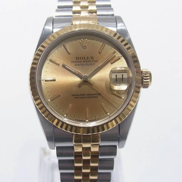 hot sale online 6e077 f950d ロレックスデイトジャスト68273ボーイズ腕時計お買取り致しまし ...